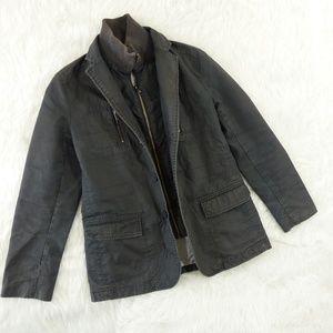 Jack & Jones Waxed Field Jacket Removable Collar